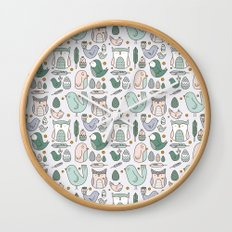 Little Birdies Wall Clock