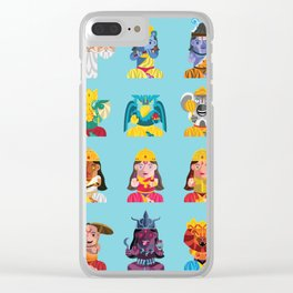 Indian Box Dolls Clear iPhone Case