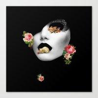 noir Canvas Prints featuring : noir : by Bauerhorst