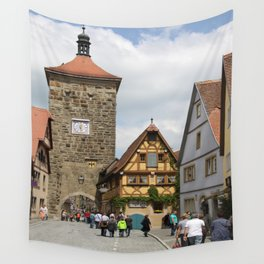 Rothenburg ob der Tauber Impression Wall Tapestry