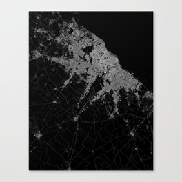 Buenos Aires map Argentina Canvas Print