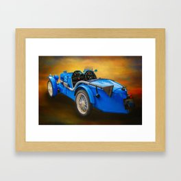 MG Sports Car Framed Art Print