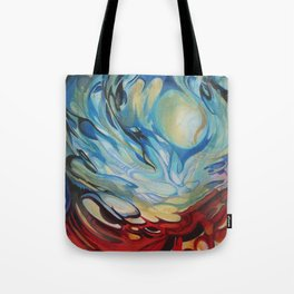 Red Blue Swirl Tote Bag