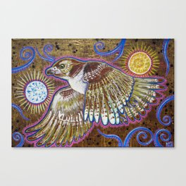 Soaring (Red-Tailed Hawk Painting) Canvas Print