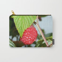 Single Red Raspberry After the Rain Carry-All Pouch