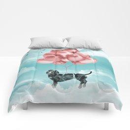 Dachshund Drift Comforters