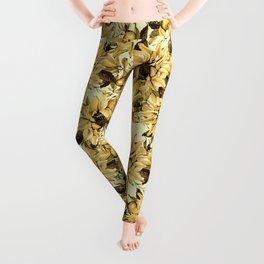 Sunflowers on Yellow Leggings