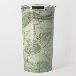 Vintage Battle of Brooklyn NY Map (1867) Travel Mug