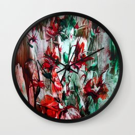 RedLilies Wall Clock