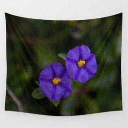 purple flowers Wall Tapestry
