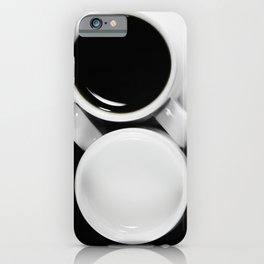 #Yin & #Yang, #coffee and #milk in #Cups #homedecors iPhone Case