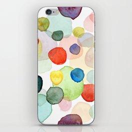 Watercolor drops multicolor iPhone Skin