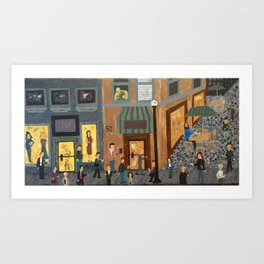 Crowd With Cell Phones Art Print