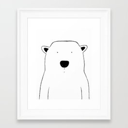 No. 0046 - Modern Kids and Nursery Art - The Polar Bear Framed Art Print