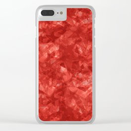 Dark pastel variegated red stars in the projection. Clear iPhone Case