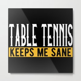 Table Tennis Lovers Gift Idea Design Motif Metal Print