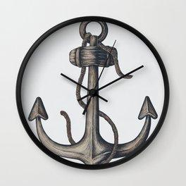 Nautical Summer Anchor Wall Clock