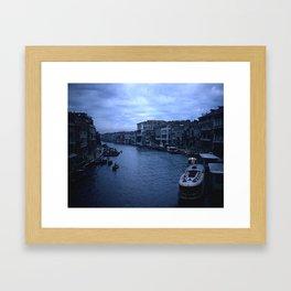 Vintage Color Photo * Kodachrome * 1950's * View from the Rialto Bridge * Venice Framed Art Print