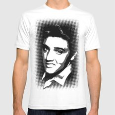 Elvis SMALL Mens Fitted Tee White