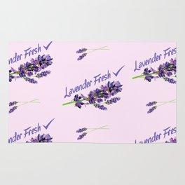 Lavender Fresh Pattern (powder pink) Rug