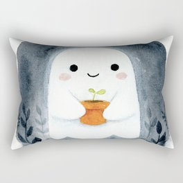 Ghost and plant Rectangular Pillow