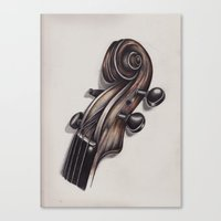violin Canvas Prints featuring violin by Buffy Ino Kua