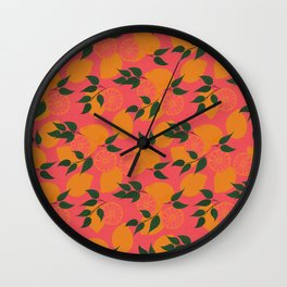 Pink Lemonade Wall Clock