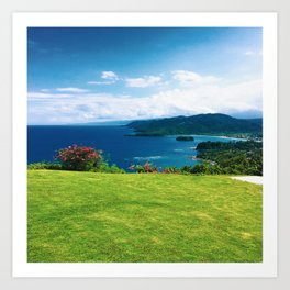 Color photo of Firefly view in Ocho Rios, Jamaica by Larry Simpson Art Print