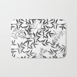Branching out in Black&White Bath Mat