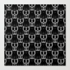 Skulls & Cats Dark Canvas Print