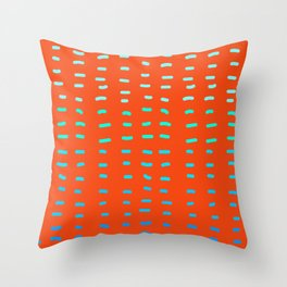 Fiesta at Festival - Orange Throw Pillow
