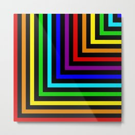 Rainbow Corners Metal Print