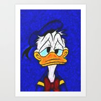 donald duck Art Prints featuring Donald Duck by DisPrints