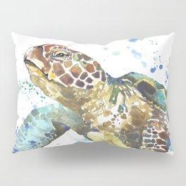 Sea Turtle Pura Vida Watercolor Pillow Sham