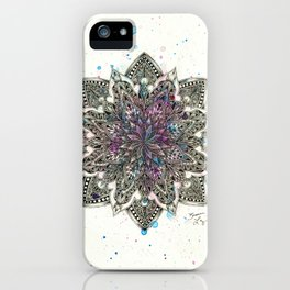 Zen Watercolor Mandala Full iPhone Case