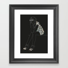 Josie - Black Version Framed Art Print