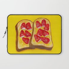 Strawberry Toast Laptop Sleeve