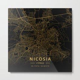 Nicosia, Cyprus - Gold Metal Print