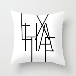 Inhale exhale (2 of 2) Throw Pillow
