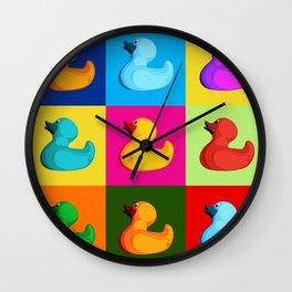pop art duck Wall Clock