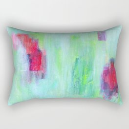 Colorful Abstract Flowers Rectangular Pillow