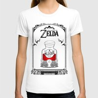 the legend of zelda T-shirts featuring Zelda legend - Red potion  by Art & Be
