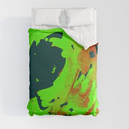 Black and Blue Wave Comforters