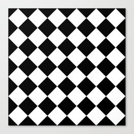 Diamond Black & White Canvas Print