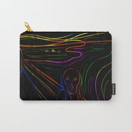 The Scream - Neon Line Art Carry-All Pouch