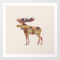 elk Art Prints featuring Elk by Oleg Borodin