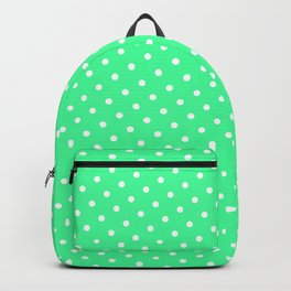 Pastel Goth Pastel Green Retro Polka Dot (White) Backpack