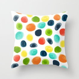 Cobblestone Watercolor Abstract Throw Pillow