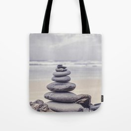 Stone Tower At A Wild Portuguese Beach Tote Bag