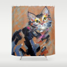 Stripes and Strokes Shower Curtain